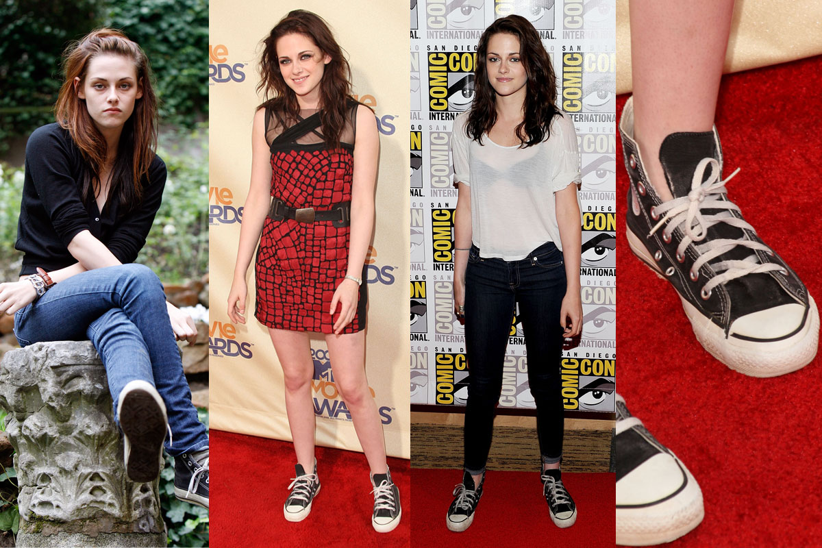 Converse na nogach Kristen Stewart